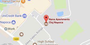 Locatie Nana Apartments Cluj Napoca