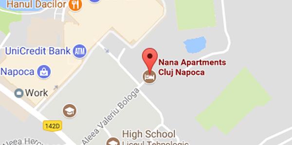 Nana-Apartments Locatie